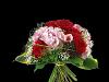 Lav bukett i rødt og rosa
