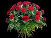 Frodig rosebukett med grønt